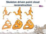 skeleton driven point cloud reconstruction22