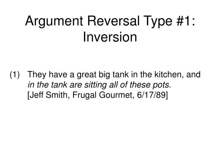 Argument reversal type 1 inversion