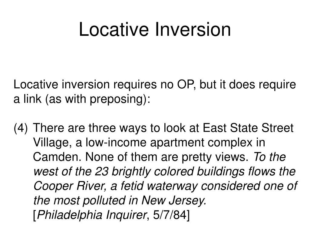 Locative Inversion