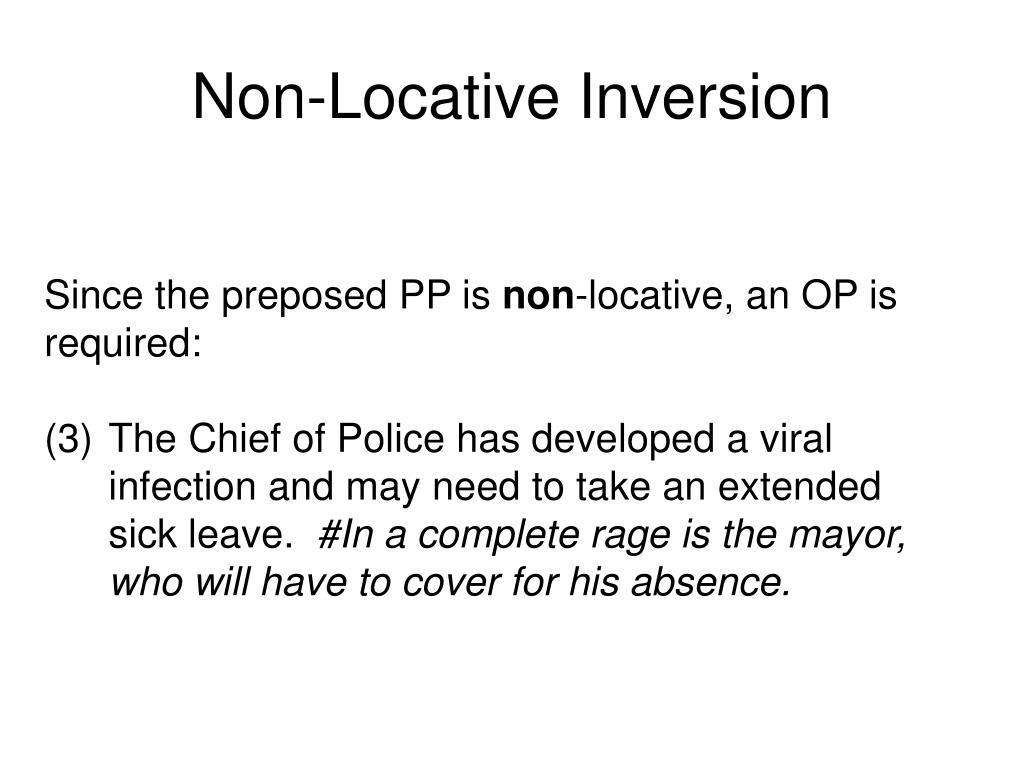 Non-Locative Inversion