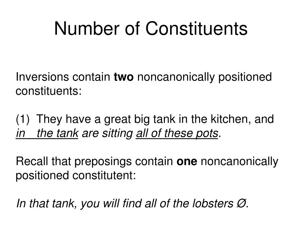 Number of Constituents