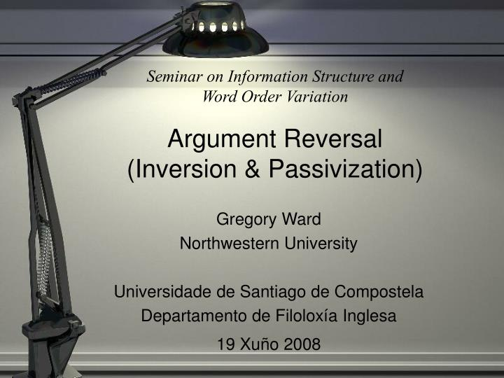 Seminar on Information Structure and