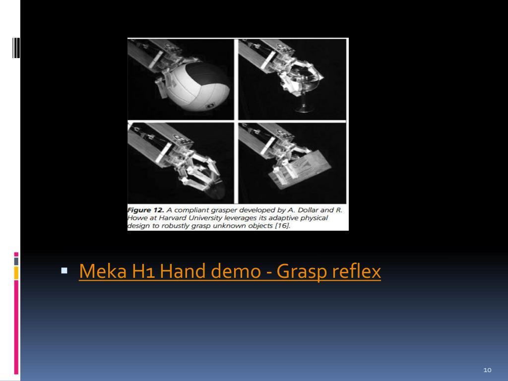 Meka H1 Hand demo - Grasp reflex