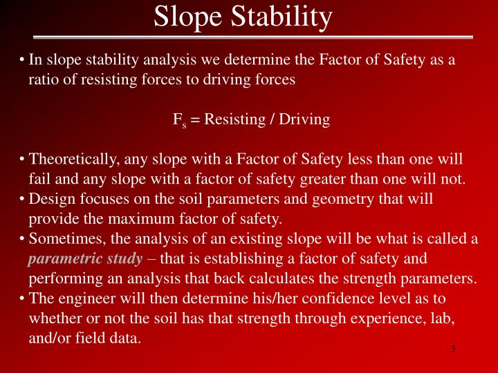 Stability of slope ppt