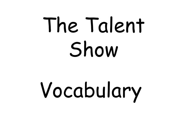 the talent show n.