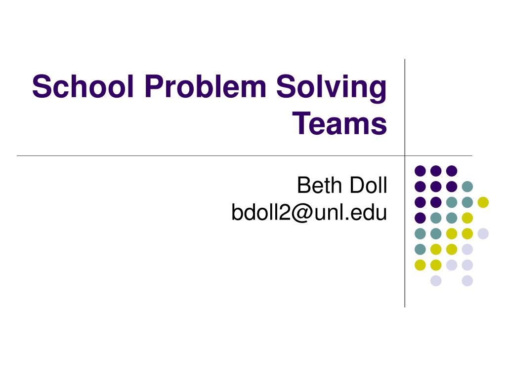 school problem solving teams l.