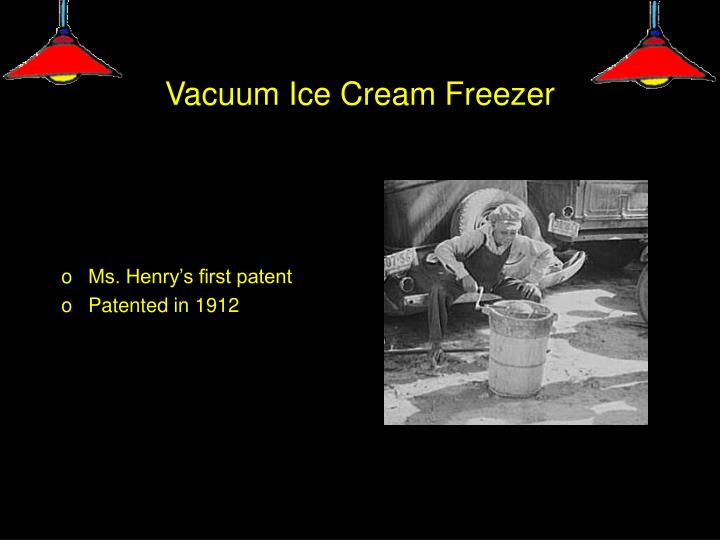 Vacuum ice cream freezer