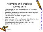 analyzing and graphing survey data