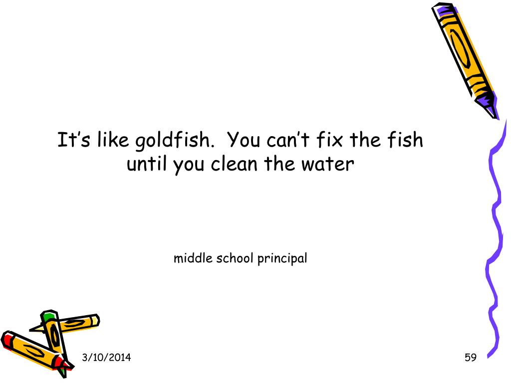 It's like goldfish.  You can't fix the fish until you clean the water