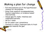 making a plan for change