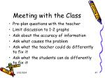 meeting with the class