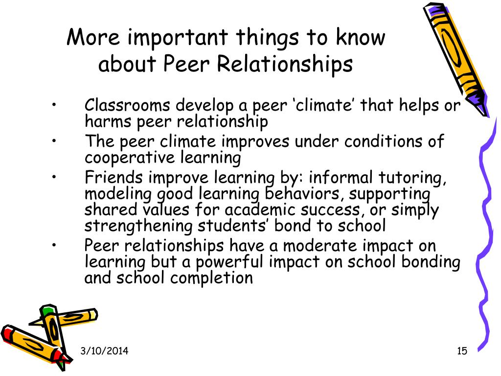 More important things to know about Peer Relationships