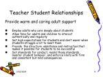 teacher student relationships