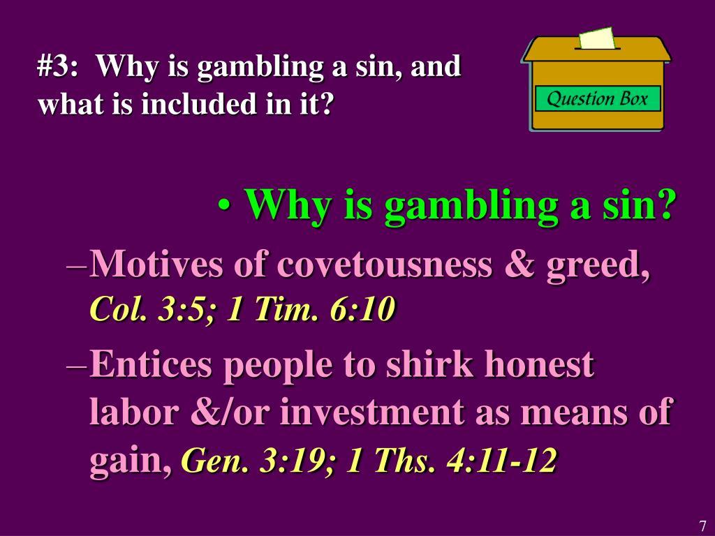 Bible Verses On Gambling