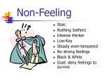 non feeling