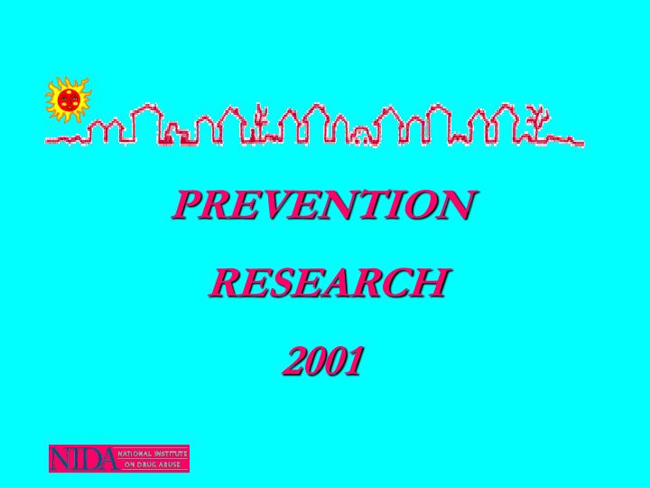 prevention research 2001 n.