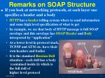 remarks on soap structure
