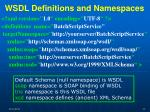 wsdl definitions and namespaces