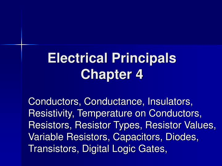 Electrical principals chapter 4