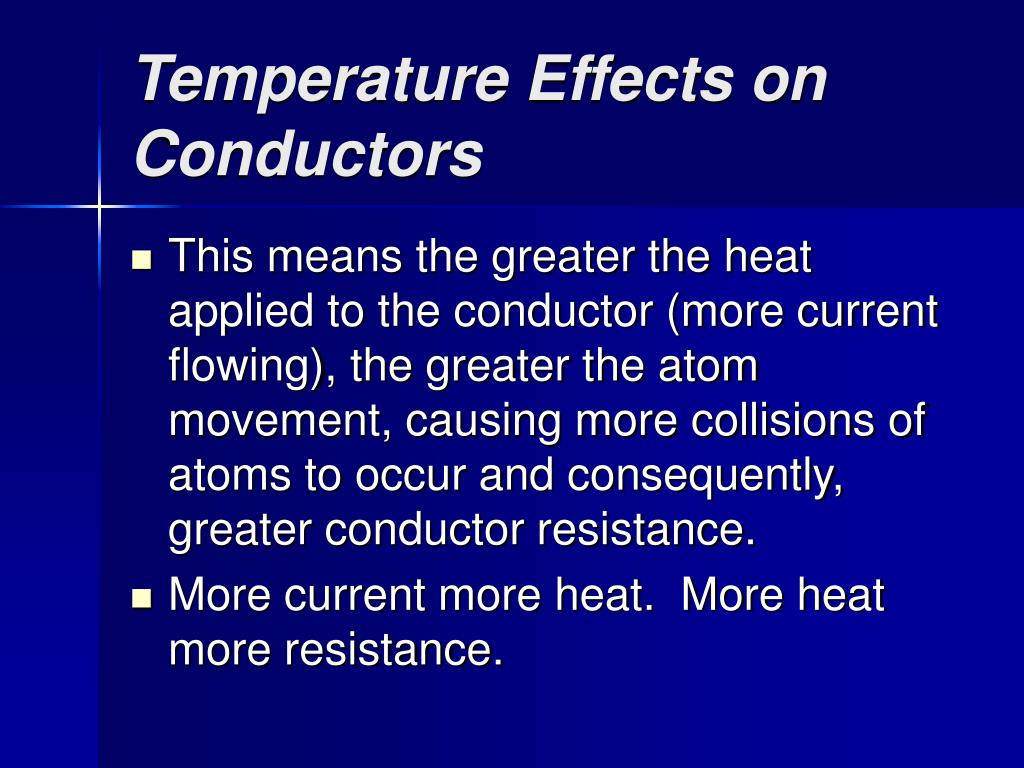 Temperature Effects on Conductors