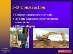 3 d construction