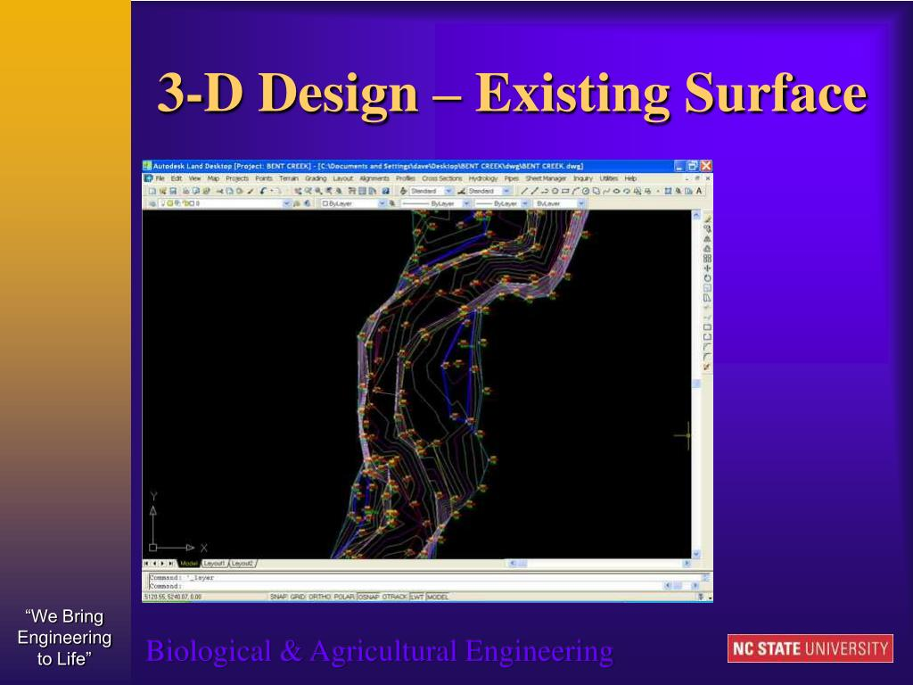 3-D Design – Existing Surface