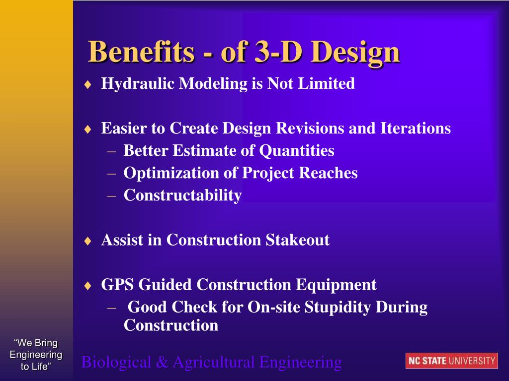 Benefits - of 3-D Design