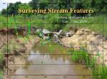 surveying stream features69