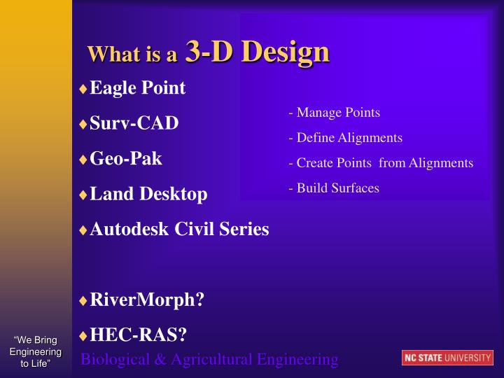 What is a 3 d design