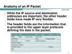 anatomy of an ip packet