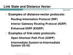 link state and distance vector