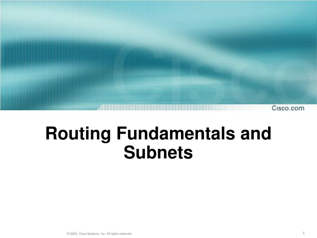 routing fundamentals and subnets l.