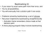 backtracking 2