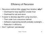 efficiency of recursion
