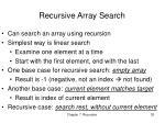 recursive array search