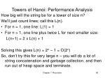 towers of hanoi performance analysis
