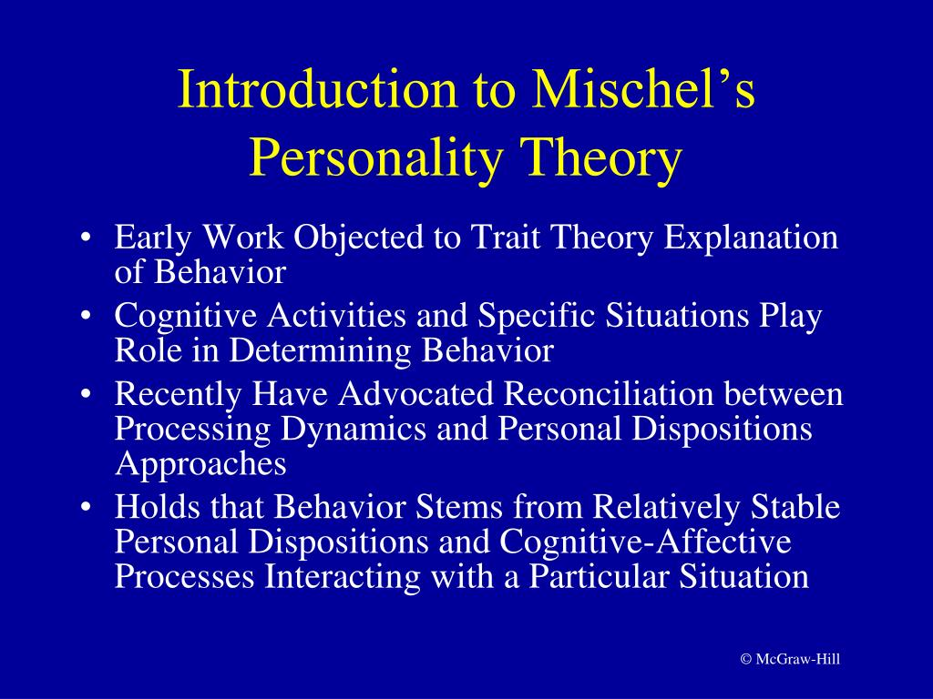 learning personality theories