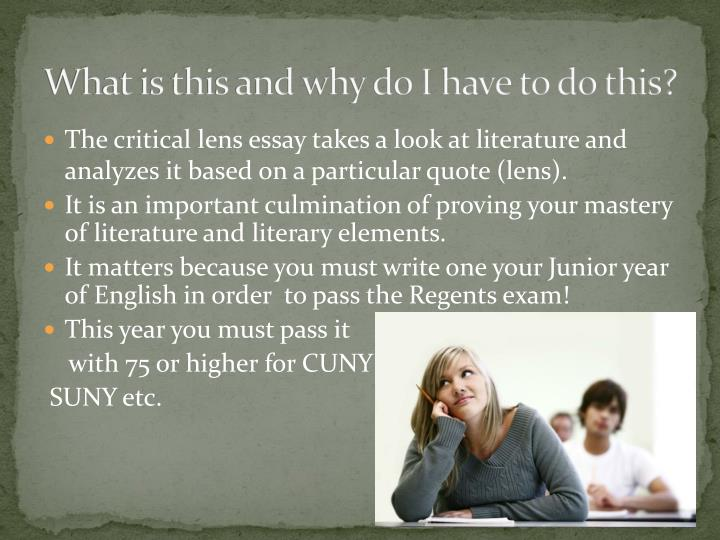 critical lens essay for an occurance Start studying english critical lens learn vocabulary, terms, and more with flashcards, games, and other study tools.