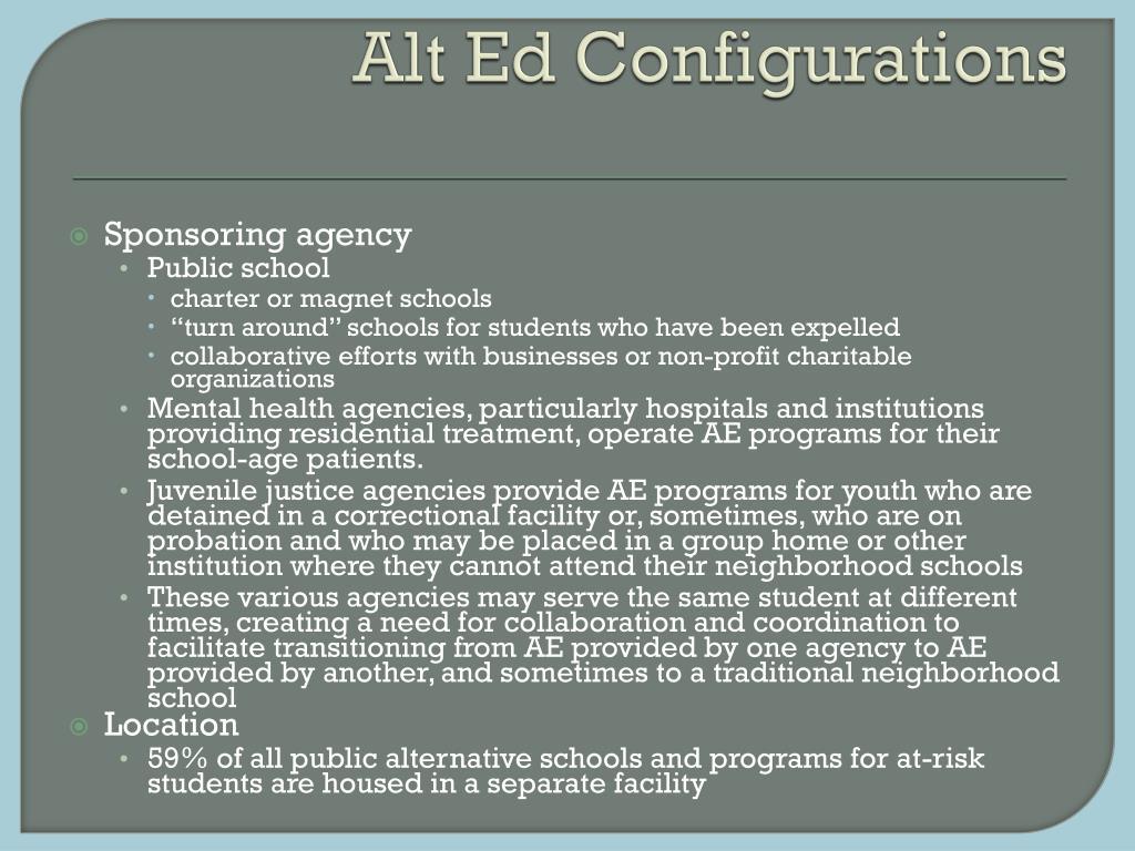 Alt Ed Configurations