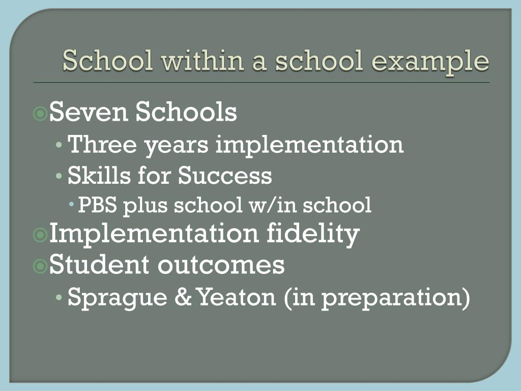 School within a school example