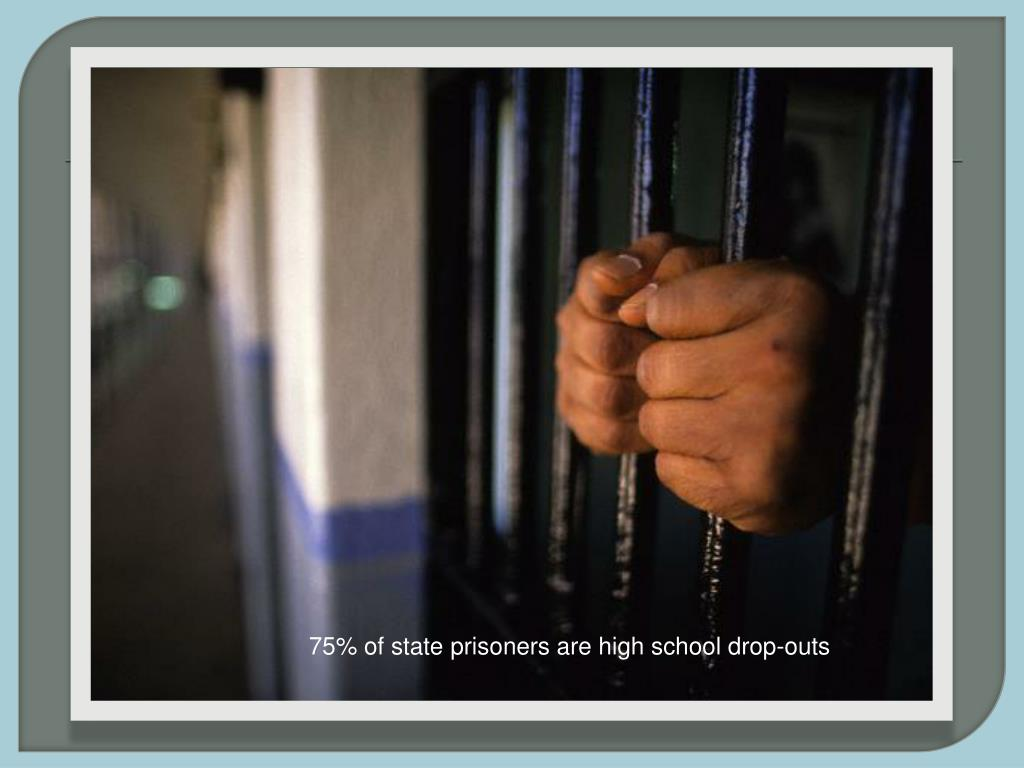 75% of state prisoners are high school drop-outs