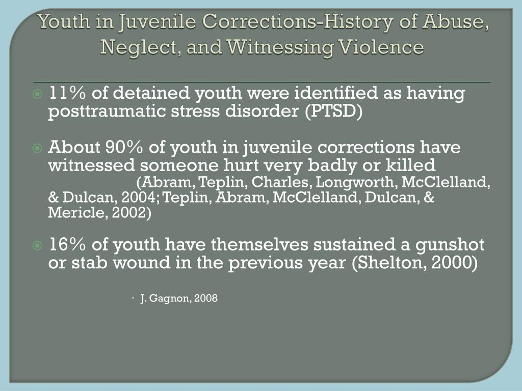 Youth in Juvenile Corrections-History of