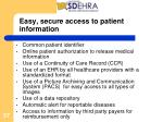 easy secure access to patient information