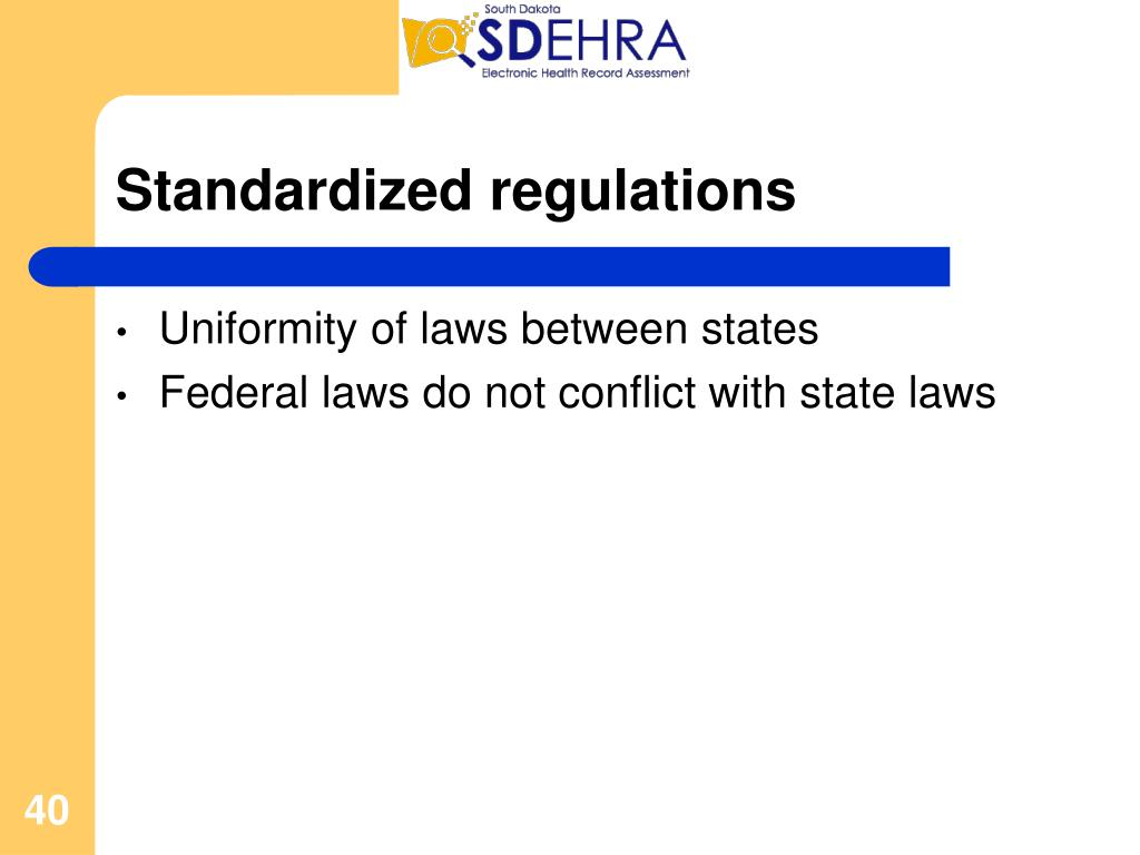 Standardized regulations
