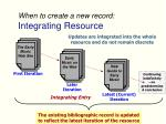 when to create a new record integrating resource