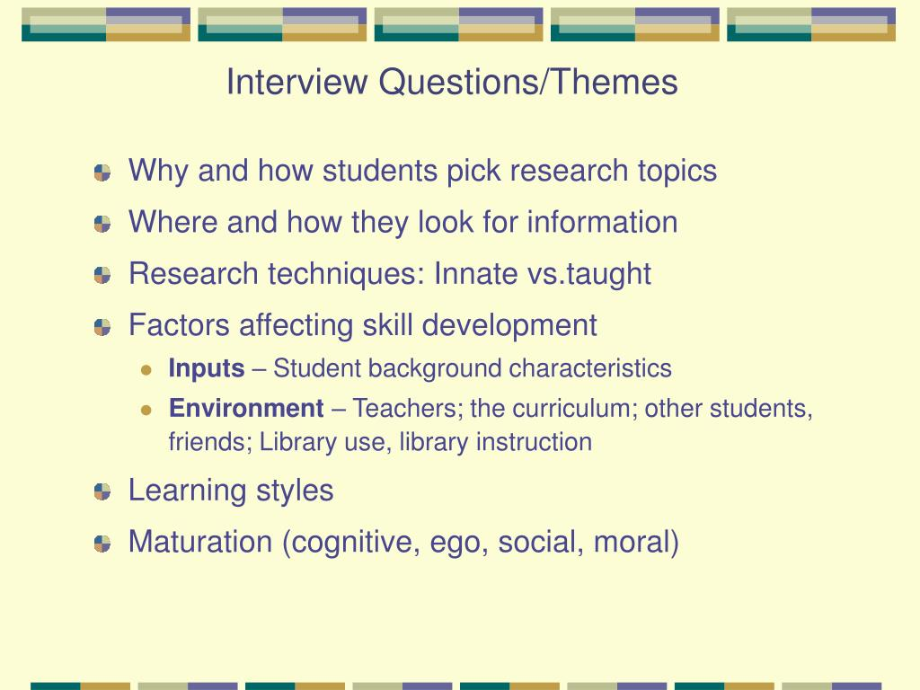 Why and how students pick research topics