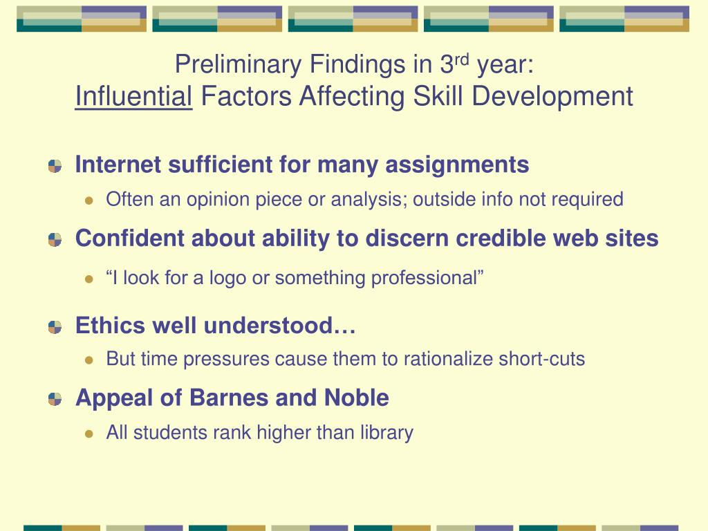 Preliminary Findings in 3