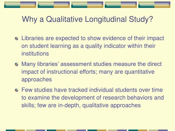 Why a qualitative longitudinal study