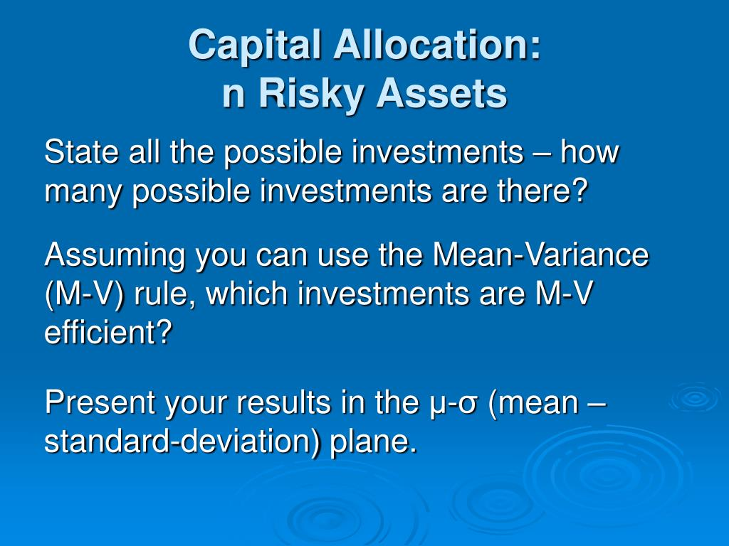 Capital Allocation: