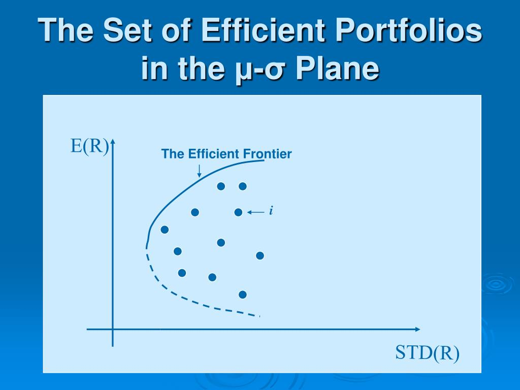 The Set of Efficient Portfolios